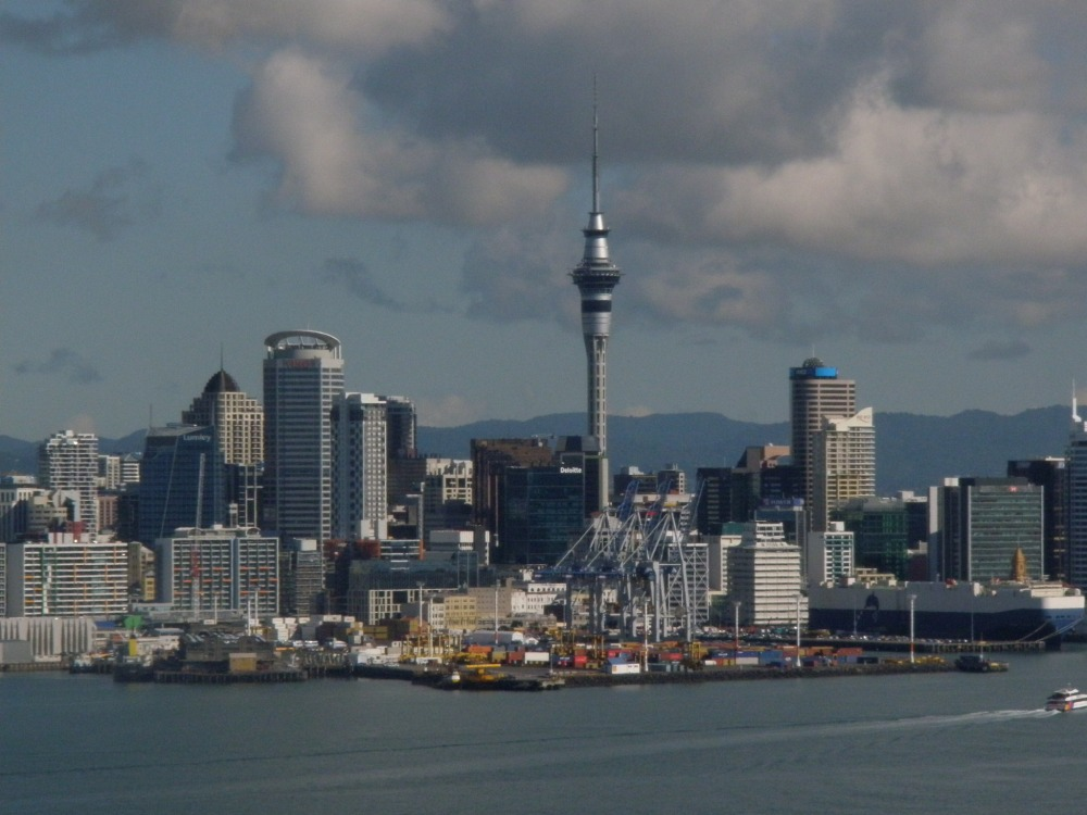 simcity auckland as seen from devonport on the north shore auckland is