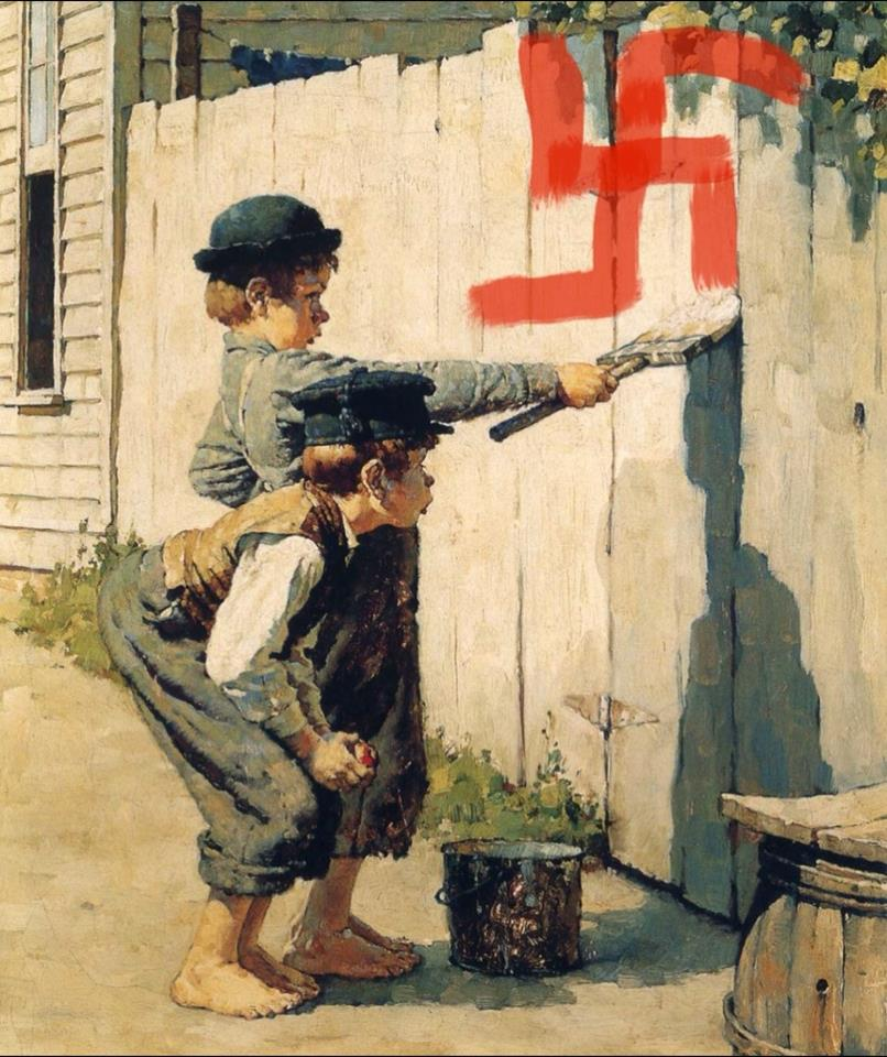 Norman Rockwell's sentimentality