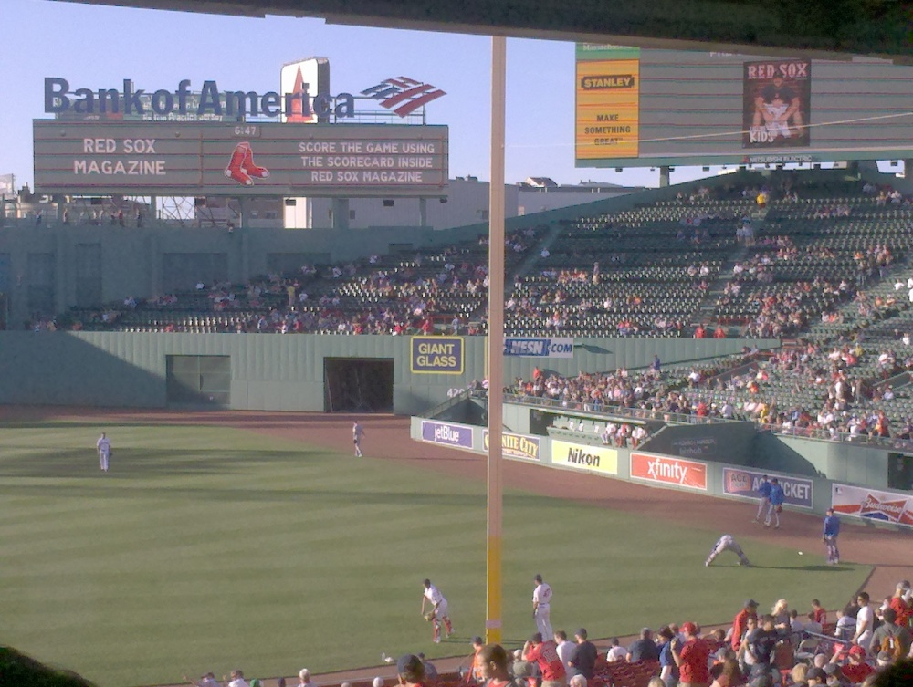 Fenway Park, vs. Texas
